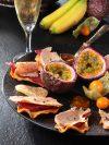 Chips de mangue et magret au foie gras