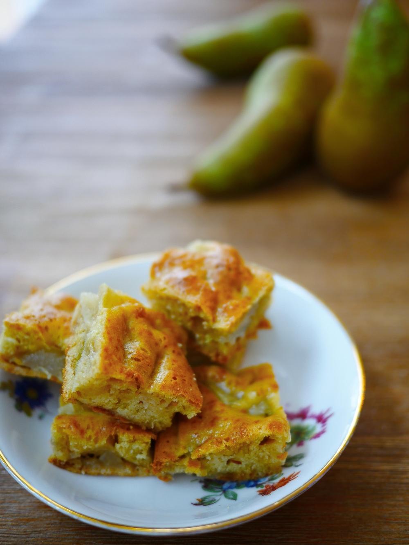 recette rapide à cuire de gâteau à la poire