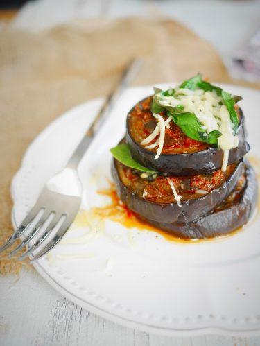millefeuille aubergines sauce tomates