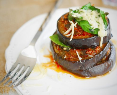 millefeuille aubergines sauce tomates