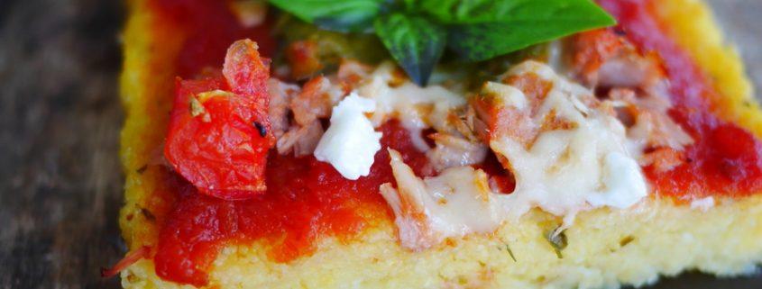 recette tarte à la polenta façon pizza