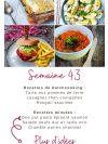 idées repas semaine 43