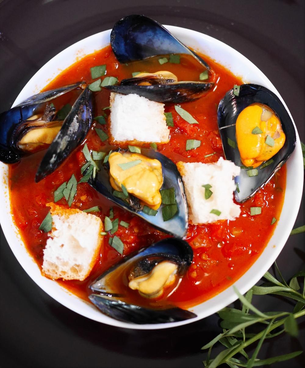 Soupe de moules à la Sicilienne