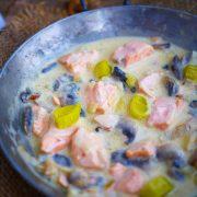 blanquette de saumon à la crème