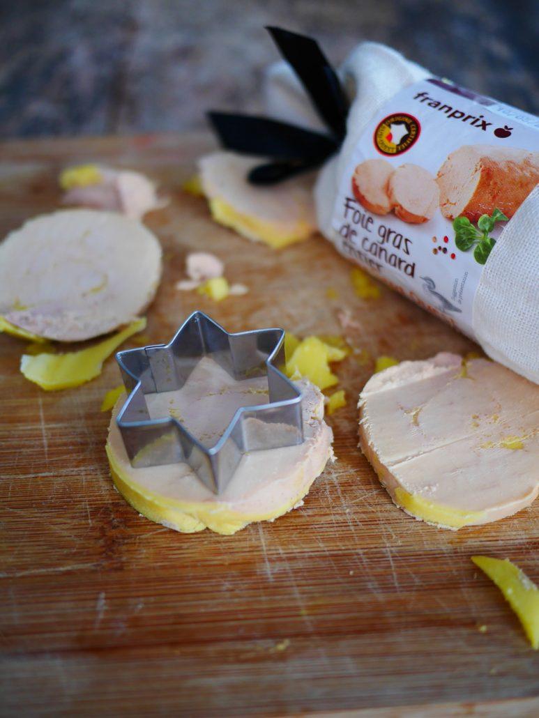 foie gras taillé à l'emporte pièce