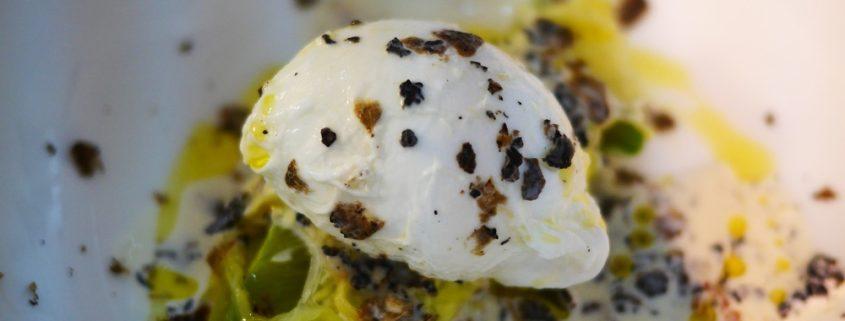oeuf poché à la truffe et parmesan