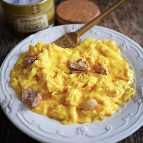oeufs brouillés au foie gras, la brouillade de fête