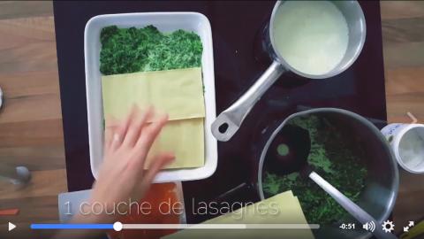 étapes pour les lasagnes aux épinards