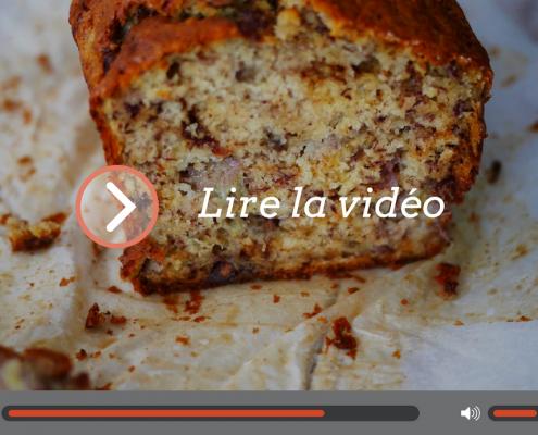 une vidéo pour faire la banana bread