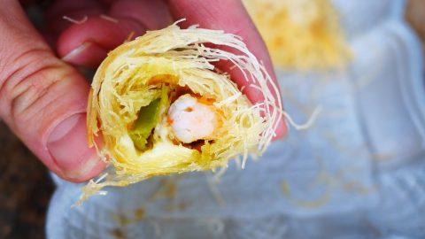 recette de kadaïfs aux crevettes