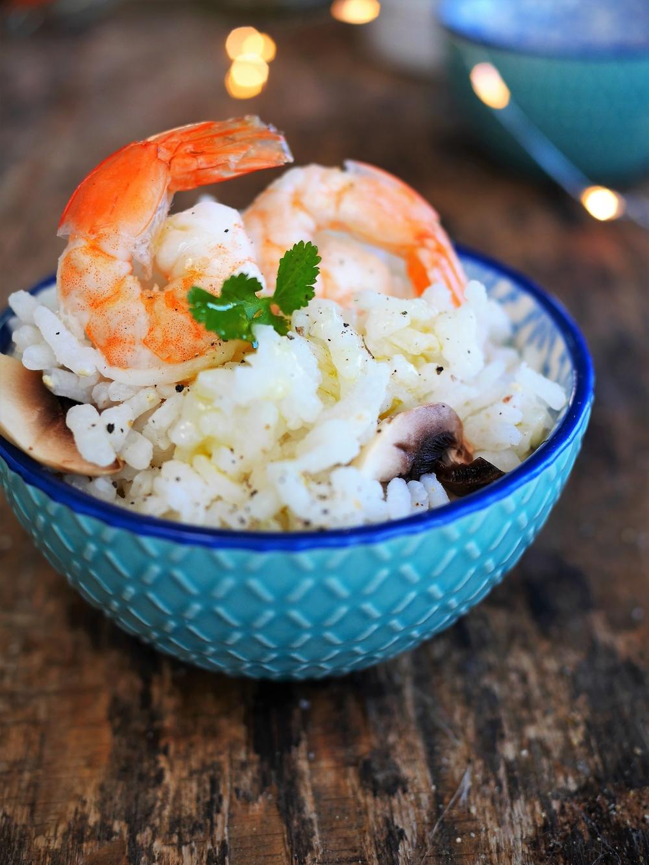 recette risotto gambas champignons