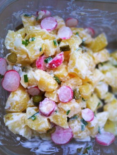salade de pommes de terre et radis croquants