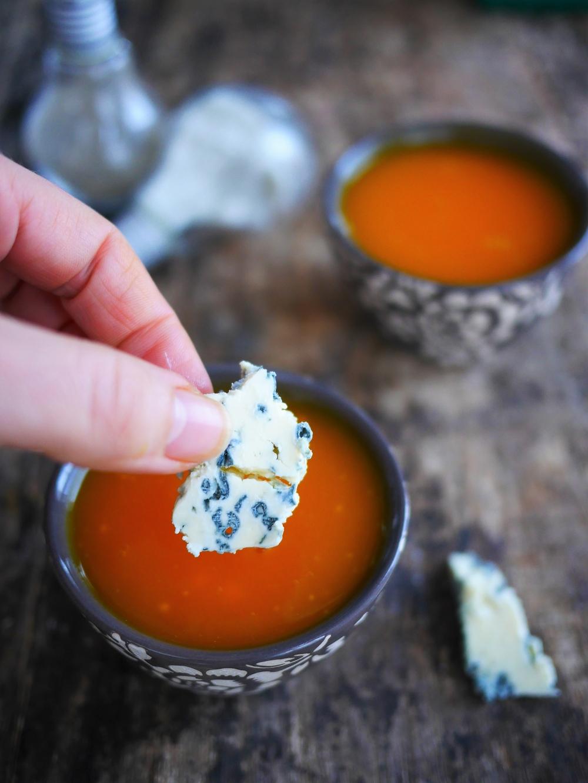 soupe de carottes au roquefort
