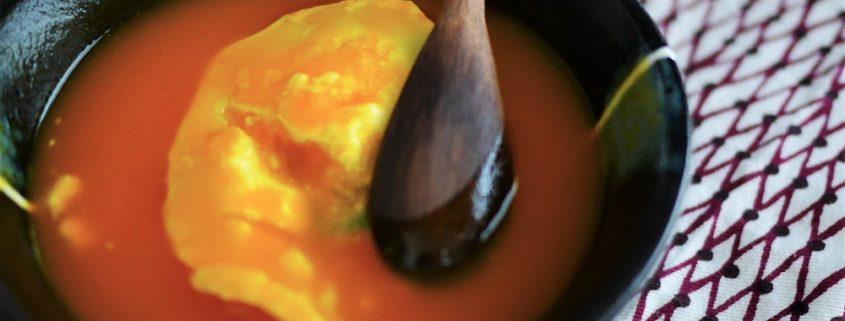 soupe de carottes au fromage de chèvre