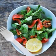 salade de mâche au saumon
