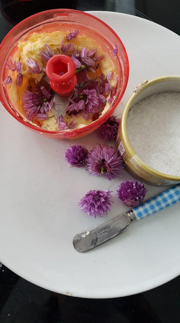 Beurre aux fleurs de ciboulette