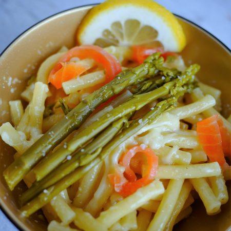 pâtes aux asperges et saumon