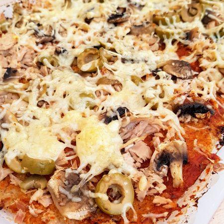 pizza sans gluten au chou fleur