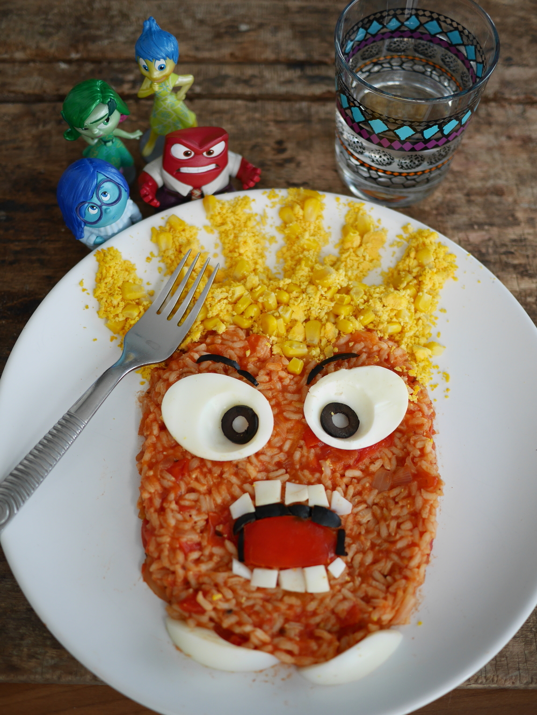 salade composée food-art personnage disney
