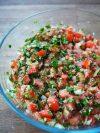 taboulé à la libanaise : tomate et persil