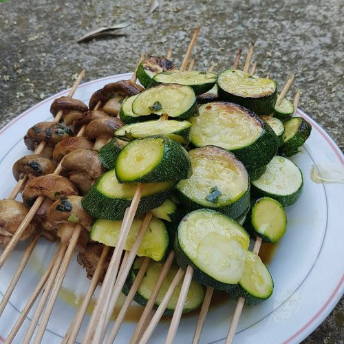 brochettes végétariennes