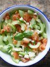 salade concombre et saumon
