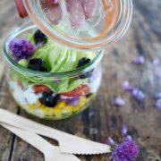 salade aux olives et mais