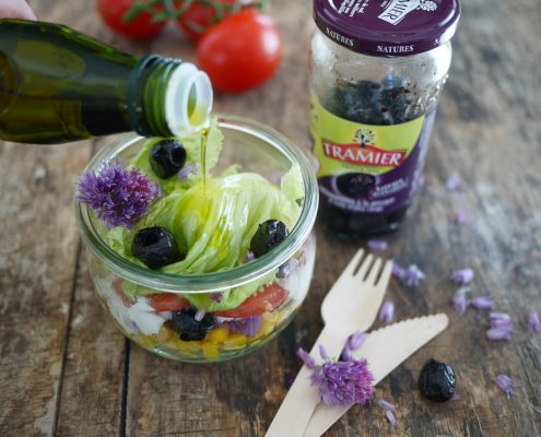 salade en bocal aux olives