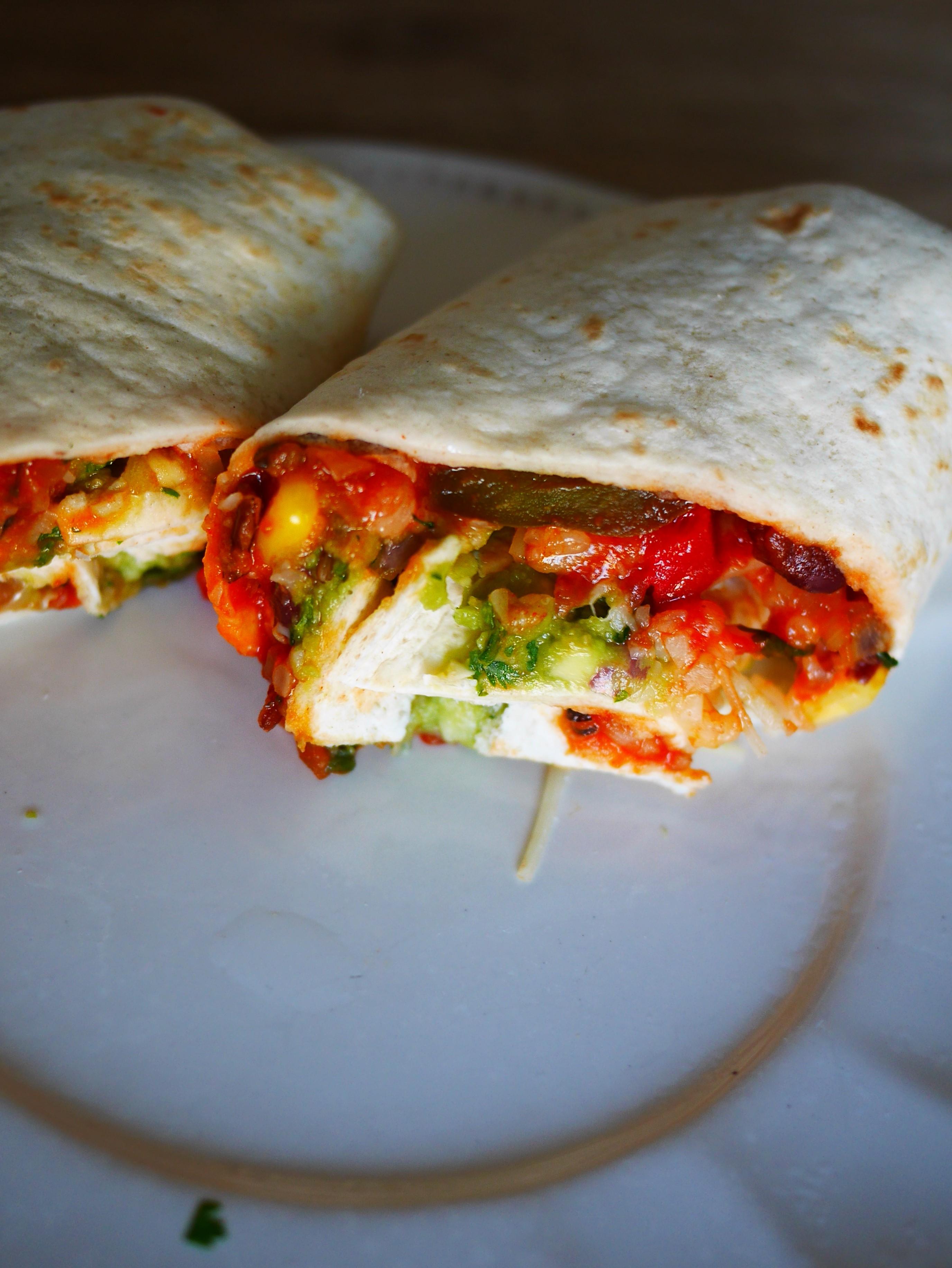 burrito sans viande, recette végétarienne