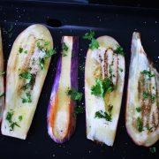 aubergines grillées à la plancha