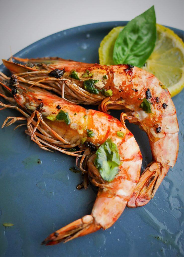 Gambas la plancha ail et basilic recettes de cuisine - Accompagnement gambas grillees ...