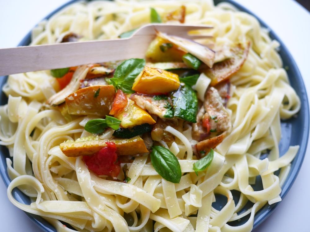 Tagliatelles aux légumes grillés