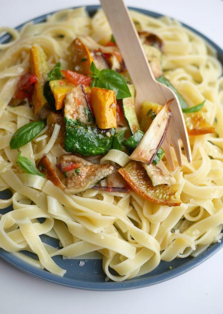 pates aux légumes grillés