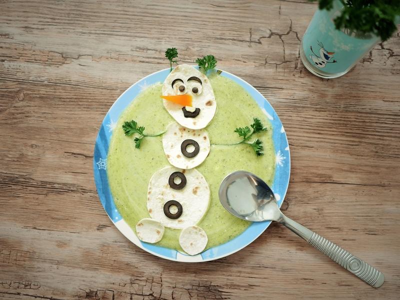 Soupe de courgettes Olaf, de la Reine des Neiges