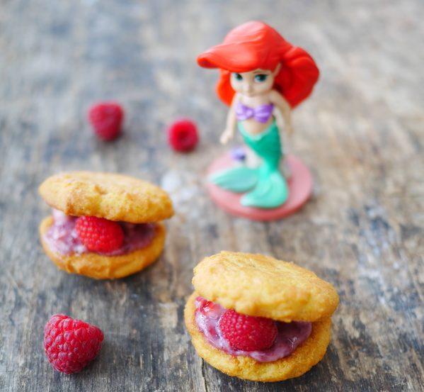 biscuits coquillages à la framboise pour Ariel la petite sirène