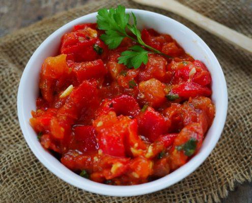 salade de poivrons rouge à la marocaine