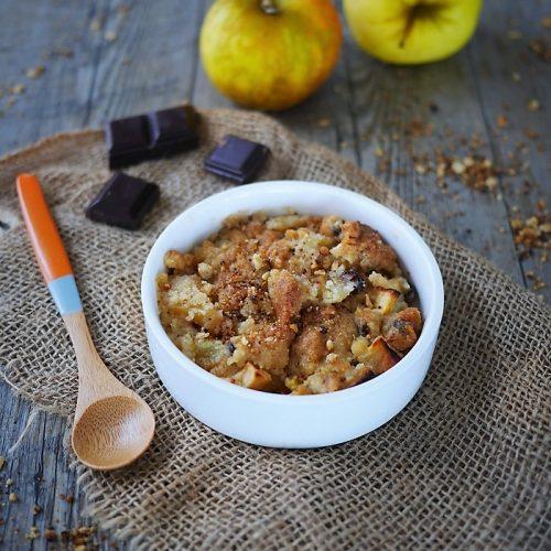 crumble au pommes et au chocolat, recette tupperware