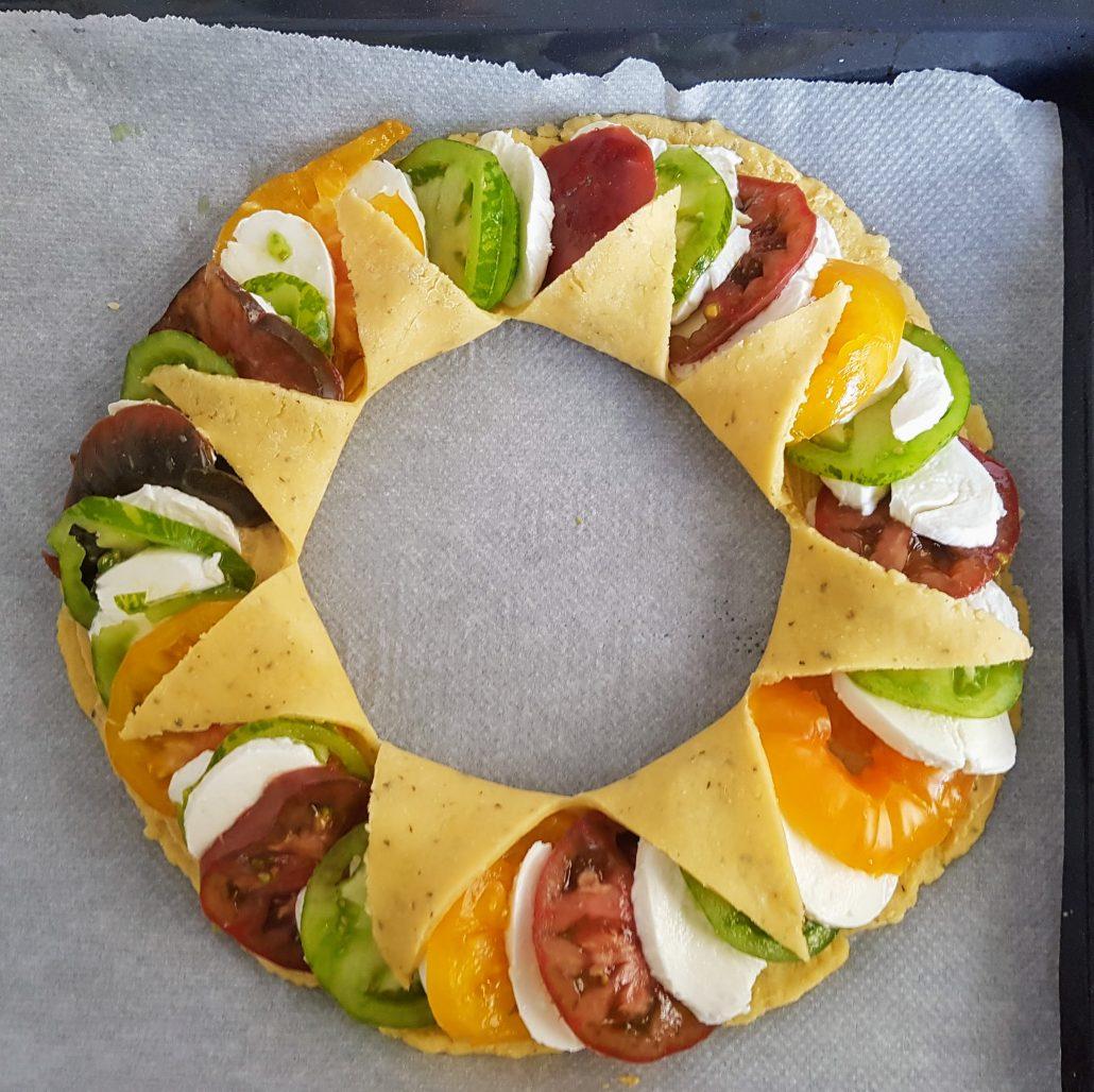 Tarte soleil aux trois tomates