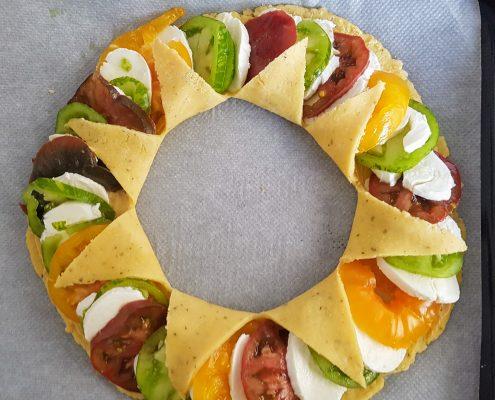 tarte aux 3 tomates avant cuisson
