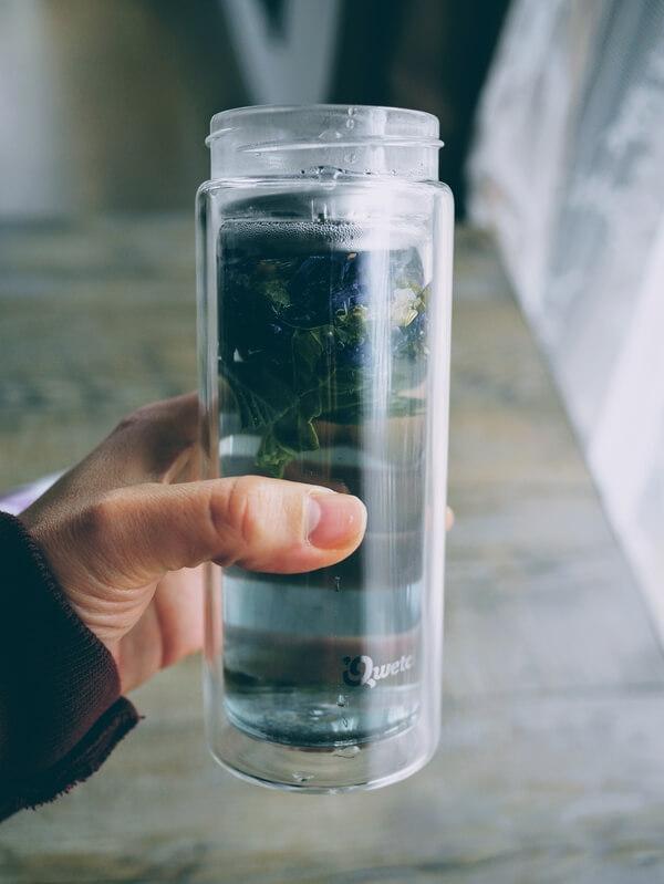 Test : gourde en verre à double paroi Qwetch