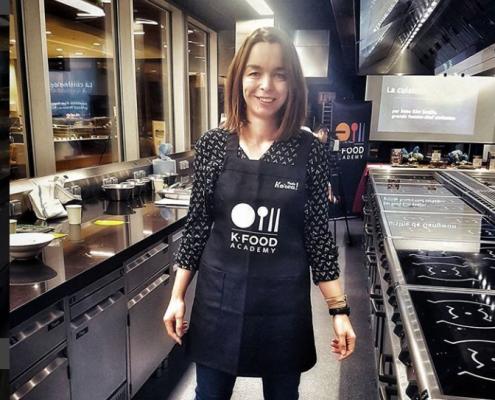 marciatack (Valérie VJ) lors d'un atelier de cuisine coréenne
