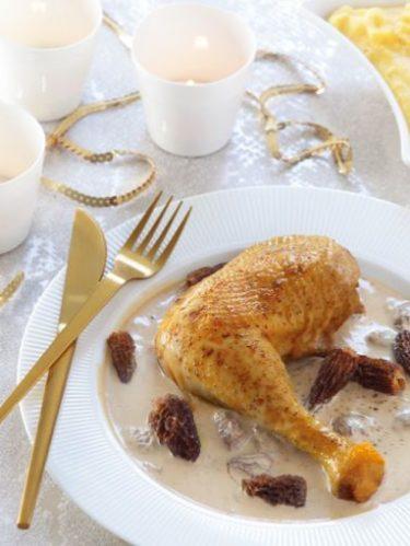 Recette de poulet sauce au morilles