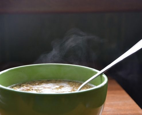 Recette de soupe de vermicelles brûlant