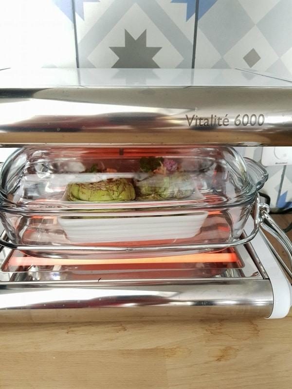 Artichauts farcis végétariens - cuisson vapeur douce
