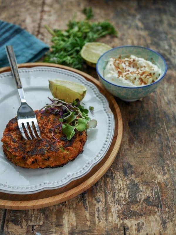 Galettes de légumes : patate douce et quinoa