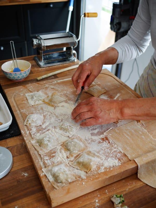 Raviolis aux épinards fait-maison - Recette végétarienne