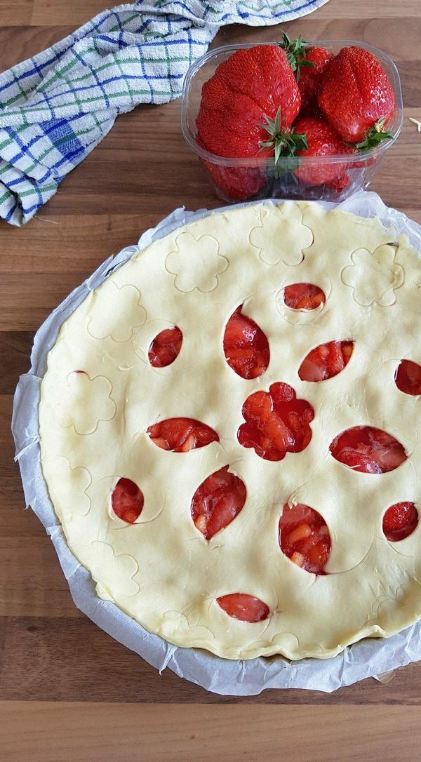 Tarte pomme fraises