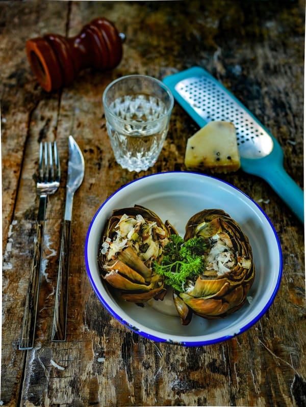 Artichaut farci à l'italienne (recette végétarienne)