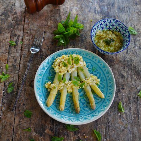Recette des asperges sauce vinaigrette minosa