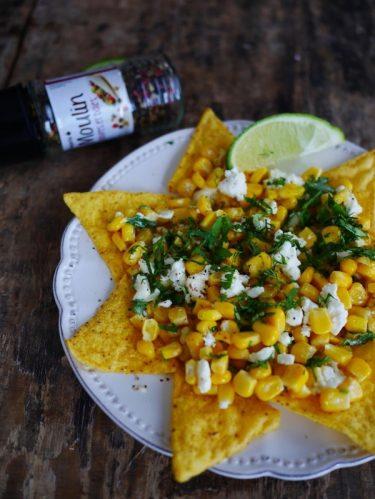 Recette de l'assiette de nachos au maïs